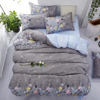 tekstil kaliforniya toptan satış-Avrupa ve Amerikan Tarzı 4 adettakım Yatak Takımları Yan Nevresim Çarşaf Ev Tekstili Kral Lüks Yatak Setleri 200 * 230 CM
