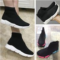 satılık bebek çorapları toptan satış-Bebek Ayakkabıları 2019 Yeni Çocuklar Sneakers Yeni Sıcak Satış Çocuk Spor Koşu Ayakkabıları Yüksek Kaliteli Nefes Örme Antiskid Eğlence Çorap ayakkabı