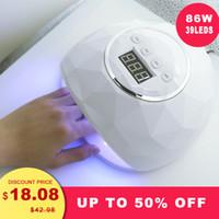 kesinail 86W UV LED Lamp Nail Dryer 39 PCS LEDDual hands Nail Lamp For Curing UV Gel Polish With Sensor Timer LCD Display