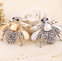 ingrosso spilla nuova lega-New High Quailty Fashion Strass Animal Brooch Jewelry Lovely Lega Bee Spille Pins Accessori per le donne