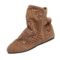 ingrosso scarpe da taglio-2018 Nuove scarpe da donna estive piatte basse cunei nascosti caviglia stivali da donna abito scarpe casual stivaletti carino