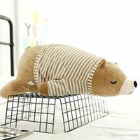ingrosso cuscini svegli dell'orso-2019 New Cartoon carino peluche orso bianco peluche ragazza che dorme bambole cuscino animali di peluche giocattoli all'ingrosso