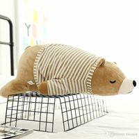 oreillers mignons ours achat en gros de-2019 nouveau dessin animé mignon ours blanc en peluche fille jouet oreiller sommeil poupées animaux en peluche jouets en gros