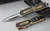 ingrosso coltello a doppia azione scarafaggio-Scarab 4 modelli oro doppio bordo doppia azione di pesca autodifesa automatica caccia tasca coltello da campeggio coltello regalo di natale per gli uomini C36 C81