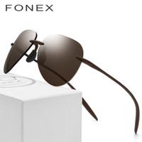 Wholesale ultralight rimless glasses resale online - Ultem Tr90 Rimless Polarized Sunglasses Men Ultralight New High Quality Sun Glasses For Women With Nylon Lens C19022501