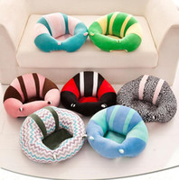 Wholesale baby seating online - Baby Sofa Chair Support Cotton Seat Feeding Chair Styles Cartoon Animal Plush Filler Cushion Sofa Children Sit Trainer OOA6837