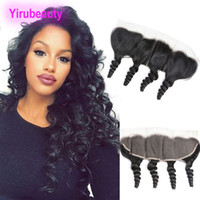 virgin malaysian loose closure بالجملة-Malaysian Virgin Hair Loose Wave 13X4 Lace Frontal Closure Ear To Ear Free Part With Baby Hair 8-20inch Loose Wave