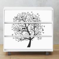 Vente En Gros Stickers Muraux Arbre Blanc 2019 En Vrac à