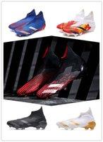 cr7 beyaz krampon gençlik toptan satış-2020 Futbol Profilli Yeni Erkek Messi Predators Mutator 20 FG Futbol Ayakkabı Çekirdek Siyah Beyaz Aktif Kırmızı Tasarımcı Futbol Boots Futbol Ayakkabı