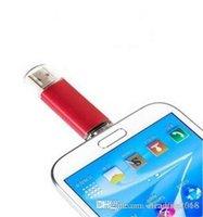 flash bellek kalem sürücüleri toptan satış-Tasarım Gerçek kapasite 64 GB USB Flash Sürücü OTG Kalem Sürücü Usb Flash Memory Stick Pendrive U Disk