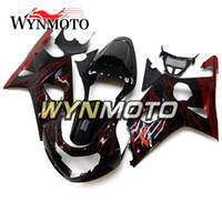 motocicletas gsxr plásticos venda por atacado-Injeção de plástico ABS Motocicleta Carenagens Para Suzuki GSXR1000 Preto Vermelho gsxr 1000 K1 K2 2000 2001 20002 Tampa com tampa de Assento