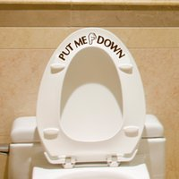 Wholesale toilet seat decal sticker resale online - Gesture Hand Decal Funny Bathroom Toilet Seat Wall Sticker Sign for PUT ME DOWN