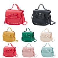 Wholesale princess diaper resale online - 2019 New Fashion Toddler Baby Messenger Diaper Bags Children Kids Girls Shoulder PU Bag Handbag Bowknot Princess Crossbody Bag