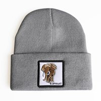 Wholesale boys skullies beanies for sale - Group buy Elephant Animal Embroidery Men Women Beanies New Fashion Casual Knitted Winter Hat Boys Girls Gift Skullies Drop Shipping