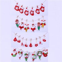 Wholesale hanging drops pendants resale online - Xmas Christmas Tree Pendants Hanging Colorful Drop Ornaments Home Christmas Party Decoration Pendant Drop Ornaments