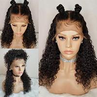 peruca de cabelo humano de pequena capa venda por atacado-360 Lace Frontal peruca 150% densidade Pré Arrancado 360 Peruca Do Laço Brasileiro Virgem Perucas de Cabelo Humano 360 perucas para as mulheres negras Pequeno Cap