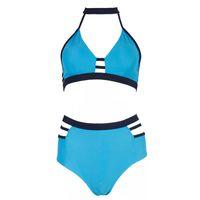 ingrosso bikini gialli blu-2019 THE NEWESTGLAMCARE COSTUME DA BAGNO Sexy Bikini da donna Due pezzi da bagno a vita alta Bikini e Beach Wear Blu giallo o nero