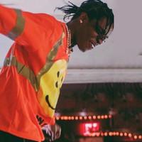 kayalık sweatshirtler toptan satış-ASAP Rocky CPFM W.W.C.D. Kanye West Yansıtıcı Splice Uzun Kollu Kazak Tee Sokak Hip Hop Rahat Kazak Kazak T Gömlek HFYMWY232