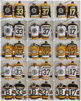 boston jersey lucic al por mayor-2010 clásico de invierno Vintage Boston Bruins Hockey Jersey 33 Zdeno Chara 37 Patrice Bergeron 17 Milan Lucic 75 Aniversario Jerseys Un parche