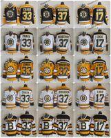 boston jersey lucic venda por atacado-2010 Inverno Clássico Do Vintage Boston Bruins Hóquei Jersey 33 Zdeno Chara 37 Patrice Bergeron 17 Milão Lucic 75 Camisas De Aniversário Um Remendo