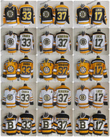 boston jersey lucic großhandel-2010 Winter Classic Vintage Boston Bruins Eishockeytrikot 33 Zdeno Chara 37 Patrice Bergeron 17 Milan Lucic 75 Jubiläumsjerseys Ein Patch