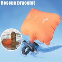 Wholesale rescue strap for sale - Group buy Anti Dredging Rescue Bracelet With Inflatable Airbag Outdoor Watersports Swim With Life Strap DX88