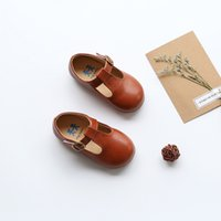Wholesale leather quality shoes children resale online - High Quality Children Leather Shoes Kids Footwear Girls Vintage Single Shoes School Flat