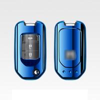 ingrosso copertura auto accorda honda-Brevetto TPU Car Remote Case Cover Shell per Honda Accord Civic CR-V City Jazz Elantra IX35 Accessori per auto Santafe Styling Fashion