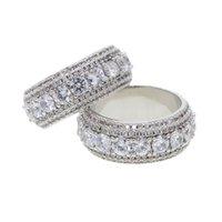 ingrosso anelli di barretta dell'anca-US HOT vendita gioielli hip hop taglia 7 8 9 10 anello di fidanzamento per uomo donna coppia diamanti anelli di barretta ghiacciati