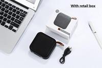 entrada de micro al por mayor-2019 Nuevo altavoz inalámbrico Bluetooth mini tarjeta Tarjeta de audio portátil subwoofer de entrada usb auxiliar con micrófono y caja minorista