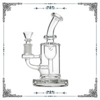 Wholesale blue bubbler pipe for sale - Group buy Leisure glass Inch Tall Torus Dab Rig glass Recycler bong Showerhead Percolator bubbler sturdy smoking water pipe Blue joint size mm
