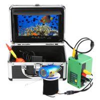 video pesca al por mayor-7 Buscador de peces portátil Monitor de 1000TVL TFT Kit de cámara de video subacuática a prueba de agua 30PCS LED Equipo de buscador de peces de visión nocturna