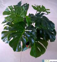innen künstliche bäume großhandel-Schildkröte verlässt Pflanzen Künstlicher Baum Pflanzen Hauptdekoration Indoor-Pflanzen 13 Blätter / pcs Freies Verschiffen