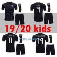 uniformes de futbol mexico al por mayor-México kit de niños jersey de fútbol 19 20 Inicio negro CHICHARITO G.DOS SANTOS M.LAYUN A.GUARDADO C.VELA 2019 2020 niño conjunto uniforme de fútbol