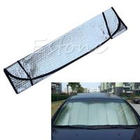 Wholesale car sun shades windshield resale online - 2017 Practical Foldable Car Windshield Visor Cover Auto Front Rear Window Sun Shade
