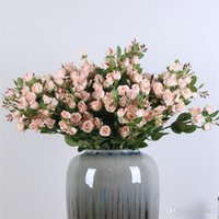 Wholesale roses buds for sale - Group buy Single Branch Artificial Flower Rose Fake Flower Simulation Small Rosess Bud Decorate Supplies More Color Hot Sales Creative thC1