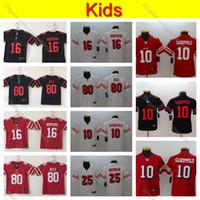 Wholesale kids rice for sale - Group buy Youth San Francisco Kids ers Jimmy Garoppolo Jersey Boys Richard Sherman Joe Montana Jerry Rice Top Quality Football Jerseys