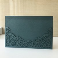 Wholesale luxury birthday invitation cards for sale - Group buy Wedding Invitation Cards Luxury Flower Vintage Style Envelop Using To Birthday Party Ceremony Invitation Cards Festival Cards