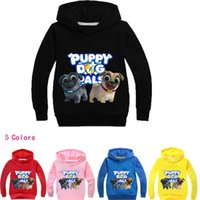 sombrero de suéter cachorro al por mayor-Dog Pals Puppy Shirt Cartoon Sweater Los niños fingen incluso Hat Guard T007 Camisetas