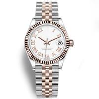 relógios de senhora venda por atacado-19 cores de luxo mulheres relógios 31mm relógio automático de cristal moldura de cristal de safira relógios 2813 movimento senhora relógios mulheres relógio de pulso