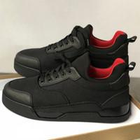 zapatillas de picos negros al por mayor-Nuevo diseñador Sneakers Spikes Aurelien flat Trainer Red Bottom hombre zapatos negro Aurelien Sneakers Casual Outdoor Trainer Perfect Quality