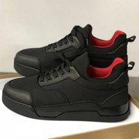 ingrosso scarpe da ginnastica nere-Nuove sneakers firmate Spikes Aurelien flat Trainer Red Bottom scarpe da uomo nere Aurelien Sneakers Casual Outdoor Trainer Qualità perfetta