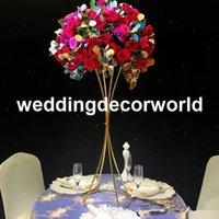 artificial flowers arrangements großhandel-Hochzeit Bogen Blume Hochzeit Bühne Hintergrund stehen Dekoration Frames künstliche Blumenschmuck Dekoration Bogen für Hochzeit Tisch decor205