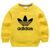 Wholesale children clothing free shipping resale online - Designer Clothing New Autumn New Children s Garment Children Cartoon Embroidery Hoodies Sweatshirts