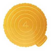 musluk araçları toptan satış-Kek Tabanı Tek Kullanımlık Kağıt Bardak Pratik Kek Kurulu Doğum Günü Kek aracı için Taşınabilir Hizmet Üsleri Aracı Yuvarlak Kare Altın 10 Adet / takım