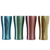 Wholesale tea warmers for sale - Group buy Stainless Steel Mug Metal sport cup single layer colorful water Cups Outdoor Camping Drinking Coffee Tea Beer mug LJJA2934