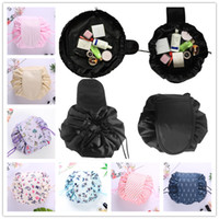 Wholesale large fabric storage bags for sale - Group buy Large Size Lazy Cosmetic Bag Makeup Bags Designs Drawstring Bag Sundries Storage Organizer Magic Travel Pouch Portable Toiletry Bag