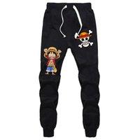 ingrosso jogging pantaloni per ragazzi-Pantalone sportivo ONE PIECE Monkey D. Luffy Pantaloncini sportivi estivi Jogger Fitness Sport Pantaloni traspiranti per uomo Ragazzi Diciottenni