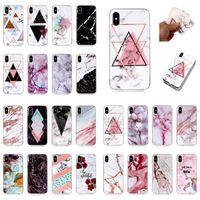 iphone 5s marmor fall großhandel-Marmor tpu abdeckung für iphone xs max xr 8 7 6 s plus 5 s se ipod touch samsung galaxy s10 s8 note9 telefonkasten