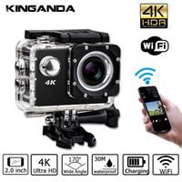 полный hd видеокамеры cmos оптовых-Водонепроницаемый Ultra HD 4K UHD Экшн Спорт Видеокамера Wi-Fi Видеокамера FHD 1080P DV Камера широкоугольный Go Deportiva 2-дюймовый ЖК-дисплей Pro 32G